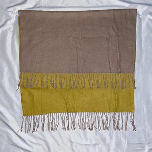 Tan and Yellow Versatile Scarf And Shaw
